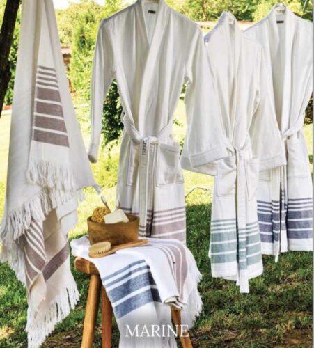 hamam_batrhorbe_marine_ luxury_bathrobe_stripes