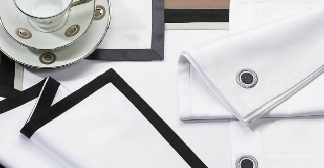 contrast border placemat napkin hrl