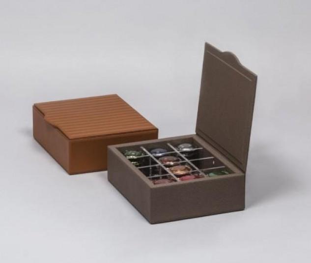 leather coffee box