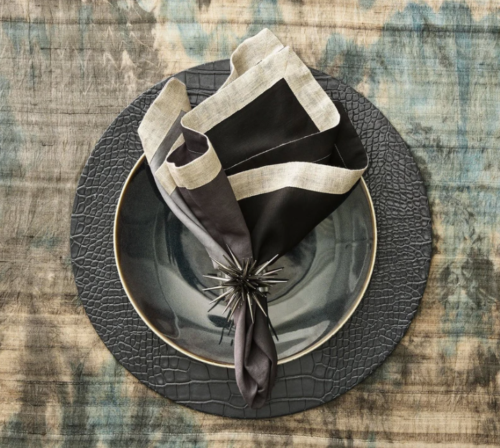 placemat_croco_charcoal_luxury