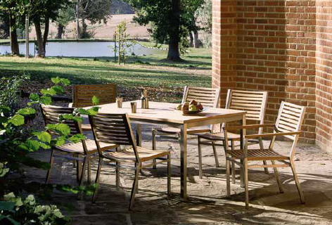 outdoor_wood_inox_table_chair_set